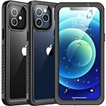SPIDERCASE for iPhone 12 Case/for iPhone 12 Pro Case, Waterproof Built-in Screen Protector Full Body Camera&Screen Protective Case, Anti-Scratch Rugged Case for iPhone 12/for iPhon