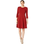 Tommy Hilfiger Snap Sleeve Fit-and-Flare Dress
