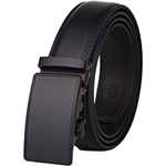 Lavemi Mens Real Leather Ratchet Dress Belt with Automatic Buckle,Elegant Gift Box