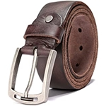 KEECOW Mens 100% Italian Cow Leather Belt Men With Anti-Scratch Buckle,Packed in a Box