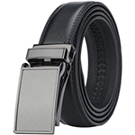HIMI Mens Comfort Genuine Leather Ratchet Dress Belt with Automatic Click Buckle