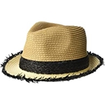Steve Madden Color Blocked Fine Paper Braid Fedora