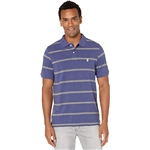 U.S. POLO ASSN. Thin Striped Pique Polo with Small Pony