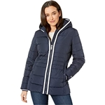 Tommy Hilfiger 26.5 Hooded Puffer w/ Contrast Zip