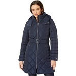 Tommy Hilfiger 35 Diamond Quilt Puffer w/ Hood and Belt