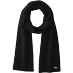 Lacoste Mens Classic Wool Ribbed Scarf