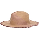 BCBGMAXAZRIA Color Block Woven Straw Panama Hat