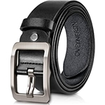 OVEYNERSIN Mens belt, OVENERSIN Genuine Leather Causal Dress Belt for Men with Classic Single Prong Buckle