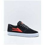 Zumiez Lakai Manchester Charcoal & Flame Red Suede Skate Shoes