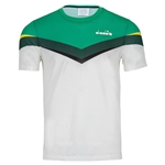 Tennisexpress Men`s Clay Tennis Top Holly Green and White