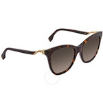 Fendi Brown Cat Eye Ladies Sunglasses FF0200S008655 FF0200S008655