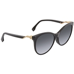 Fendi Cube Grey Gradient Cat Eye Ladies Sunglasses FF0209FS807HD57 FF0209FS807HD57