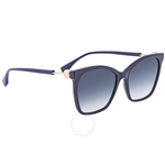 Fendi F is Fendi Blue Shaded Pink Square Ladies Sunglasses FF0344SPJPI457 FF0344SPJPI457