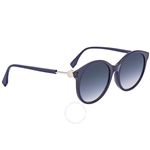 Fendi F is Fendi Blue Shaded Round Ladies Sunglasses FF0362FSPJPI456 FF0362FSPJPI456