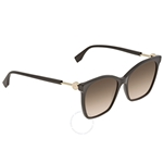 Fendi F is Fendi Brown Shaded Geometric Ladies Sunglasses FF0344S807M257 FF0344S807M257