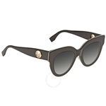 Fendi F is Fendi Grey Blue Shaded Butterfly Ladies Sunglasses FF0360GS8079O51 FF0360GS8079O51
