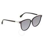 Fendi F is Fendi Grey Shaded Butterfly Ladies Sunglasses FF0345S807GB59 FF0345S807GB59