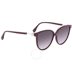 Fendi F is Fendi Grey Shaded Butterfly Ladies Sunglasses FF0345S0T79O59 FF0345S0T79O59