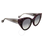 Fendi Fanny Geo-Print Cat Eye Sunglasses FF 0105/S GFBLF