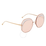 Fendi Glass Pink Geometric Ladies Sunglasses FF0358S01N563 FF0358S01N563