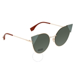Fendi Green Cat Eye Ladies Sunglasses FF 0190/S DDB57O7 FF 0190/S DDB57O7