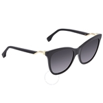 Fendi Grey Gradient Cat Eye Ladies Sunglasses FE-FF0200S 807 55 FE-FF0200S 807 55
