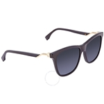 Fendi Grey Gradient Rectangular Ladies Sunglasses FF 0199/S 807 -55 FF 0199/S 807 -55