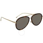 Fendi Grey Ivory Aviator Ladies Sunglasses FF 0155/S 0C1/UE 57 FF 0155/S 0C1/UE 57