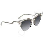 Fendi Iridia Grey Shaded Cat Eye Ladies Sunglasses FF 0041/S 27C52FU FF 0041/S 27C52FU