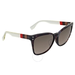 Fendi Pequin Grey Havana Asia Fit Cat Eye Sunglasses FF 0098/F/S E8MHA