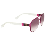 Fendi Pequin Aviator Mauve Crystal Dark Grey Shade Sunglasses FF 0082/S E3XJ8
