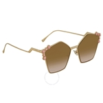 Fendi Metal Pink Stones Can Eye Sunglasses FF 0261/S 000/53 57 FF 0261/S 000/53 57