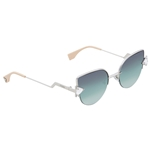 Fendi Rainbow Mauve, Green and Transparent Gradient Cat Eye Ladies Sunglasses FF 0242/S VGV/QC 52 FF 0242/S VGV/QC 52