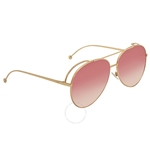 Fendi Run Away Burgundy Gradient Aviator Ladies Sunglasses FF 0286/S 000/3X 63 FF 0286/S 000/3X 63