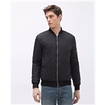 Zara Men Classic Bomber Jacket Black Large