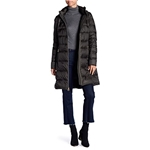 MICHAEL Michael Kors Women Quilted Long Hooded Jacket Puffer Coat~Packable