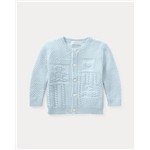 Polo Ralph Lauren Contrast-Knit Cotton Cardigan