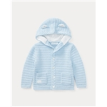 Polo Ralph Lauren Bear-Hood Cotton Cardigan
