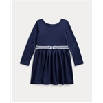 Polo Ralph Lauren Bow Ponte Fit-and-Flare Dress