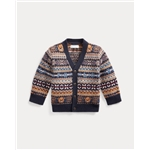 Polo Ralph Lauren Bear Fair Isle Cardigan