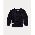 Polo Ralph Lauren Aran-Knit Cotton Sweater