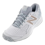 Tennisexpress Women`s 696v3 B Width Tennis Shoes White and Rosegold