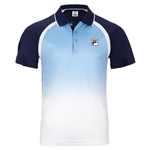 Tennisexpress Men`s Legend Ombre Tennis Polo Navy and Placid Blue