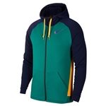 Tennisexpress Men`s Dry Training Hoodie Mystic Green and Bright Violet