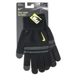 Tennisexpress Stripe Knitted Tech and Grip Gloves Black and Anthracite