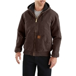 Carhartt J130 Flannel-Lined Sandstone Active Jacket - Insulated, Factory Seconds (For Men)