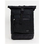 Asos ASOS DESIGN backpack in black with roll top and front pocket