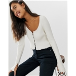 Asos ASOS DESIGN button front cardigan with scoop neck