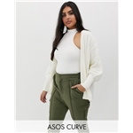 Asos ASOS DESIGN Curve oversized cardigan in wide rib
