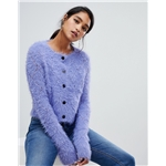 Asos ASOS DESIGN diamond knit cardigan in fluffy yarn